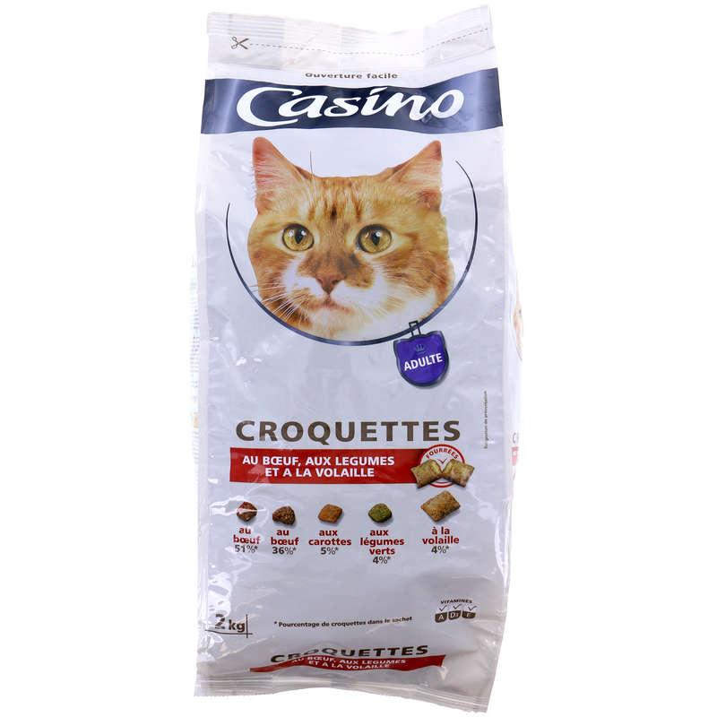 Croquettes pour chats - Bœuf, poulet, foie, légumes verts