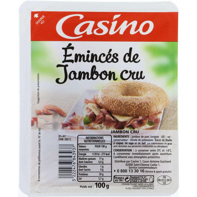 CASINO Emincés - Jambon cru