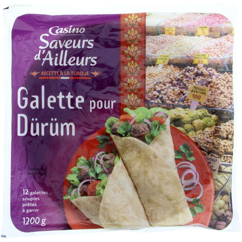 CASINO SAVEURS D'AILLEURS Galette por dürüm - 12 galettes pr...
