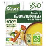 Knorr Bio - Velouté De Légumes Du Potager - Crême Fraîche - ... - 30cl
