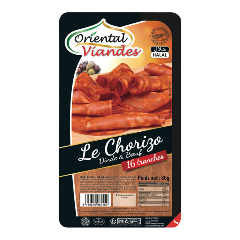Chorizo de bœuf - Halal