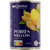 Williams Casino Poires  Au Sirop Léger - 410g