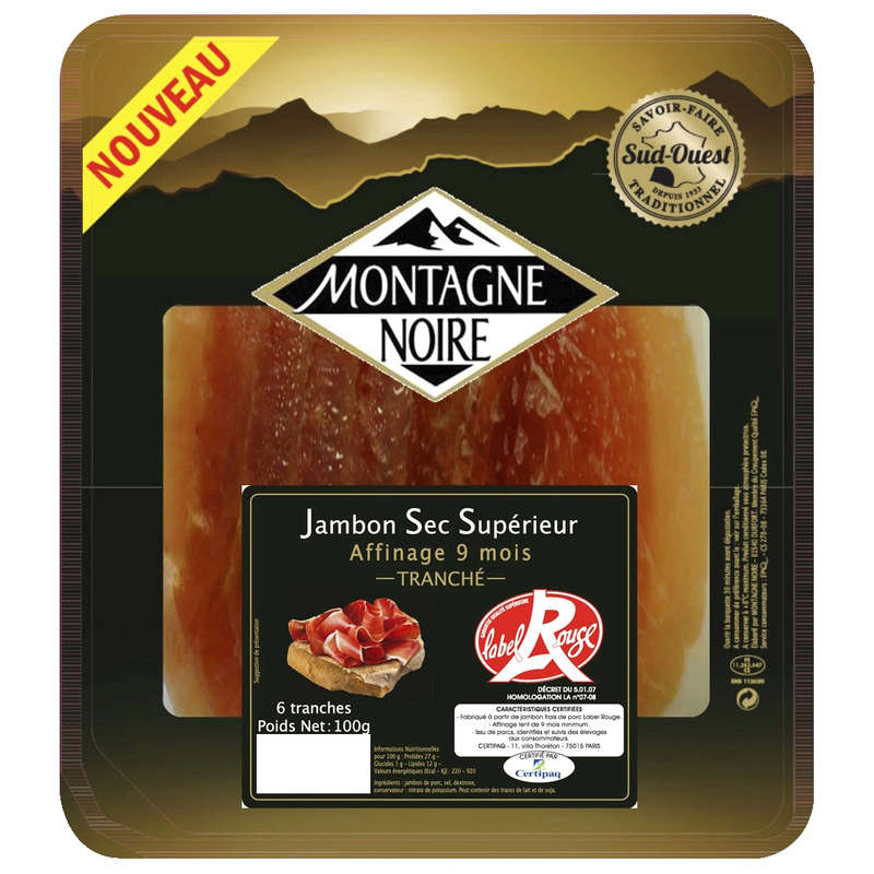 Jambon sec - Label Rouge