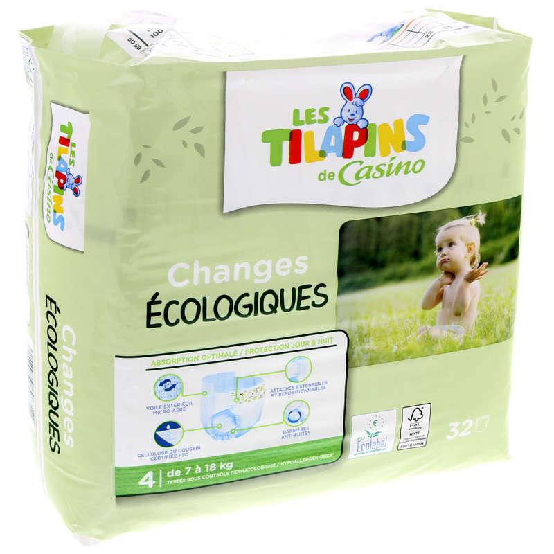 LES TILAPINS Changes bébés - Ecologiques - Taille 4 - De 7 à...