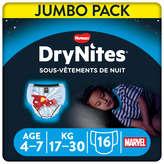 Huggies HUGGIES DryNites - Sous-vêtements de nuit - Garçons - De 4 à... - x16