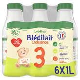 Blédina BLEDILAIT Lait de croissance - 3ème âge - Dès 12 mois à 36 m... - 6x1l