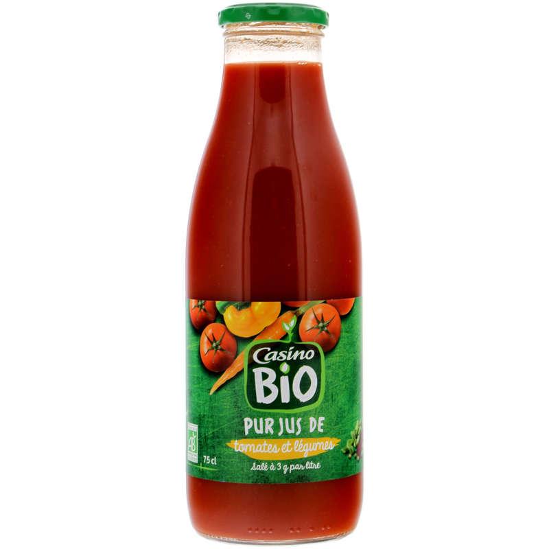 CASINO BIO Pur jus - Tomates légumes - Biologique