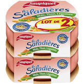 Saupiquet Les Saladières - Salade - Maïs, Thon, Légumes - 2x160g