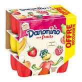 Danone Danone Danonino - Yaourt Aux Fruits - Abricot, Banane, Pêche... - 18x50g