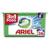 Ariel 3en1 - Lessive En Capsules - Alpine - 36 Lavages - 9