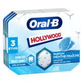 Hollywood HOLLYWOOD Oral-B - Chewing-gum - Menthe fraîche - x3