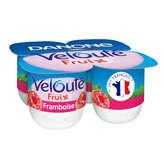 Danone DANONE Fruix - Yaourt Velouté - Framboise - 4 pots - 4x125g