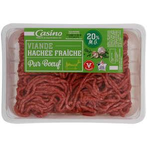 Viande hachée fraîche pur bœuf - 20% mg