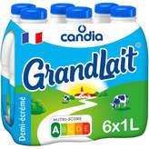 Candia CANDIA Grand Lait - Lait demi-écrémé - 6x1L
