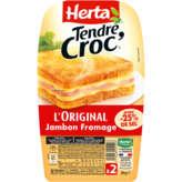 Herta HERTA Tendr croc' - L'Original - Croque monsieur Jambon from... - 200g