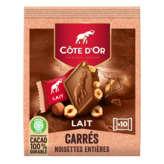 Côte d'Or COTE D'OR Carrés de chocolat au lait et noisettes entières -... - 200g