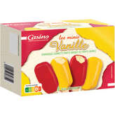 Mini bâtonnets - Crème glacée vanille, enrobée de sor...
