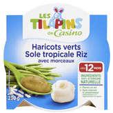 Assiette haricots verts riz sole 230g