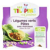 Assiette légumes verts pates 260 g