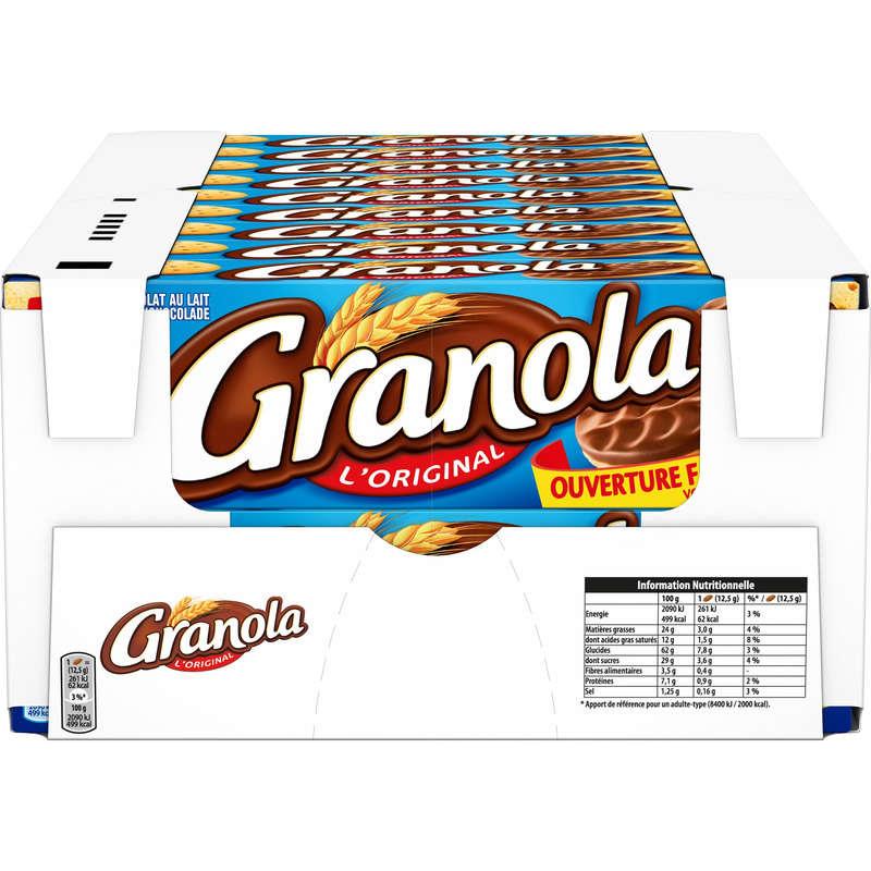COLIS x18 - Granola chocolat lait
