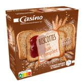 CASINO Biscottes - Au blé complet - 36 biscottes 3