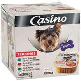 Canard CASINO Terrine pour chien - Canard - bœuf - lapin et légumes... - 3x300g
