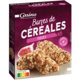 CASINO Barres céréales - Figue - Sans huile de pal