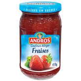 ANDROS Confiture Allegée Fraises 410g