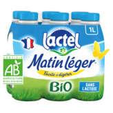 Lactel Matin Léger - Lait - Biologique - 6