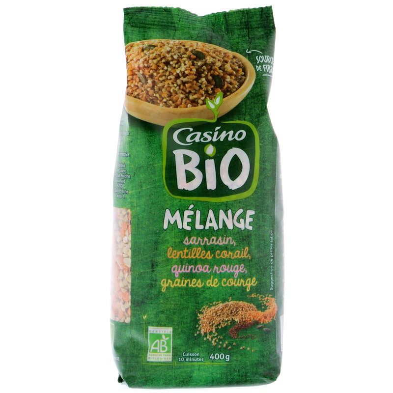 CASINO BIO Mélange - Sarrasin, lentilles, quinoa, graines de...