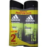 Adidas deodorant pure game 2x150ml dont 50%/2eme