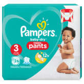 Pampers Baby-dry - Pants - Culottes - Taille 3 - 6 À 11kg - X26