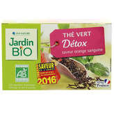 Jardin Bio Thé Vert Détox - Saveur Orange Sanguine - Sachets... - X