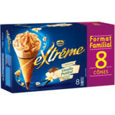 Nestlé Extreme Extrême - Vanille Praliné - Cônes Glacées - 8x120ml