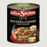 William saurin saucisses au canard lentilles 4/4 840G - ( Prix Unitaire ) - Envoi Rapide Et Soignée