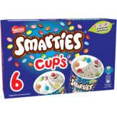 Smarties SMARTIES Smarties cup's - Glace - Vanille - Eclats de Smarti... - x6