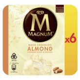 Magnum MAGNUM Bâtonnets glacés - Blanc amande - x6 - 474g