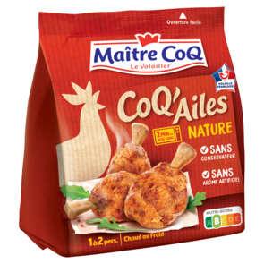 Coq'ailes nature - Manchons de poulet marinés cuits