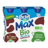 Lactel Max - Au Lait Et Chocolat - Biologique - 3x200ml