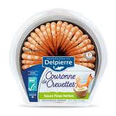 Delpierre Couronne De Queues De Crevettes Sauce Fines Herbes... - 130g
