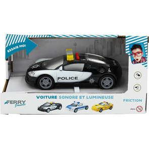 Taxi et voiture de police