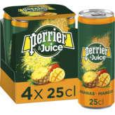 Perrier & Juice - Boisson Gazeuze Aromatisée - Aux Jus D'ana... - 4x25cl