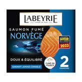 Labeyrie LABEYRIE Saumon fumé le Norvège - 2 tranches - 75g