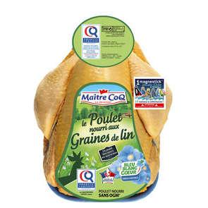 """Poulet certifié  """"graines de lin"""" sans OGM - Bleu blanc cœur"""