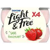 Danone Light & Free Fraise Des Bois - Yaourt - 120 G X 4