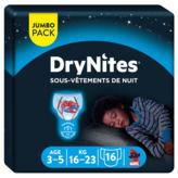 Huggies Pyjama Pants - Couche Garçon - 3-5 Ans - X16