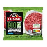 Charal Steaks Hachés Façon Bouchère 5% Mg - X2 - Biologique - 240g