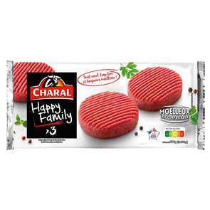 Steaks hachés de boeuf - Happy familly