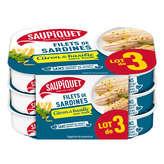 Saupiquet SAUPIQUET Filets de sardines Citron Basilic x3 - 300g