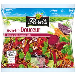 Assiette Douceur - Betterave Carotte Chou rouge Mâche